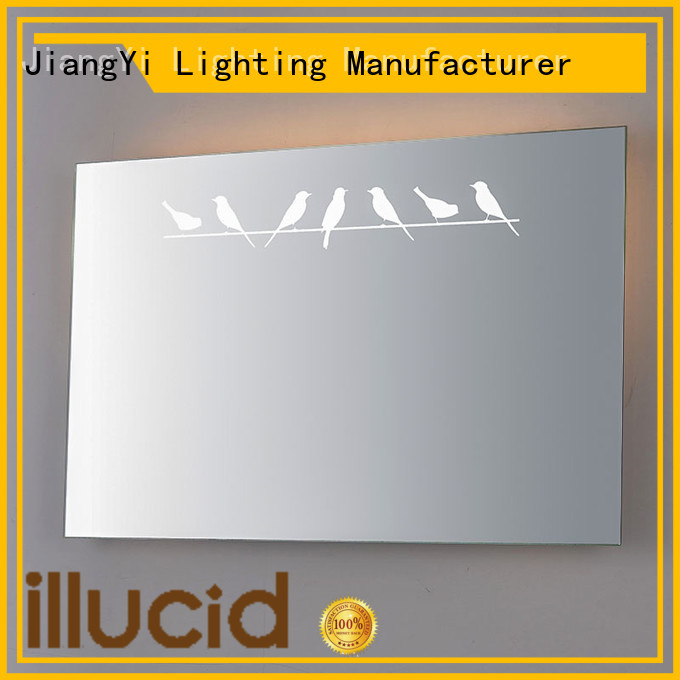 JiangYi rectangle led mirror mirror make up