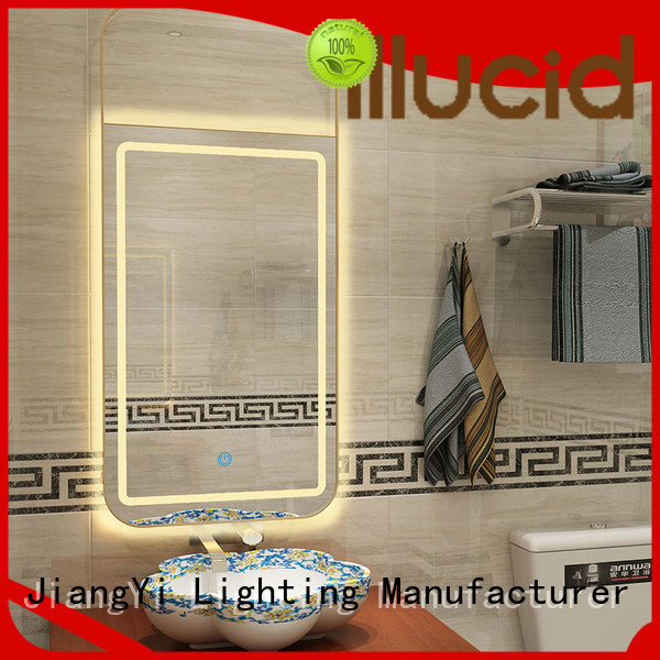 JiangYi electric rectangle led bathroom mirror mirrors at home