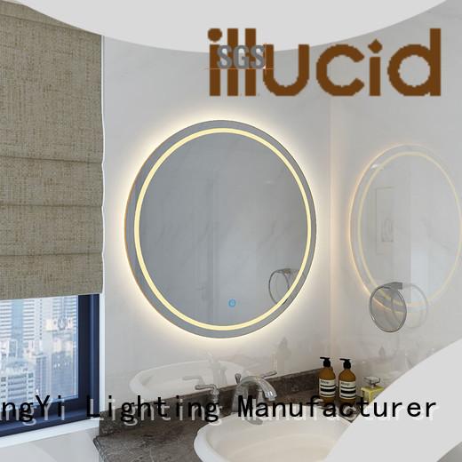 led round led bathroom mirror lighting living room