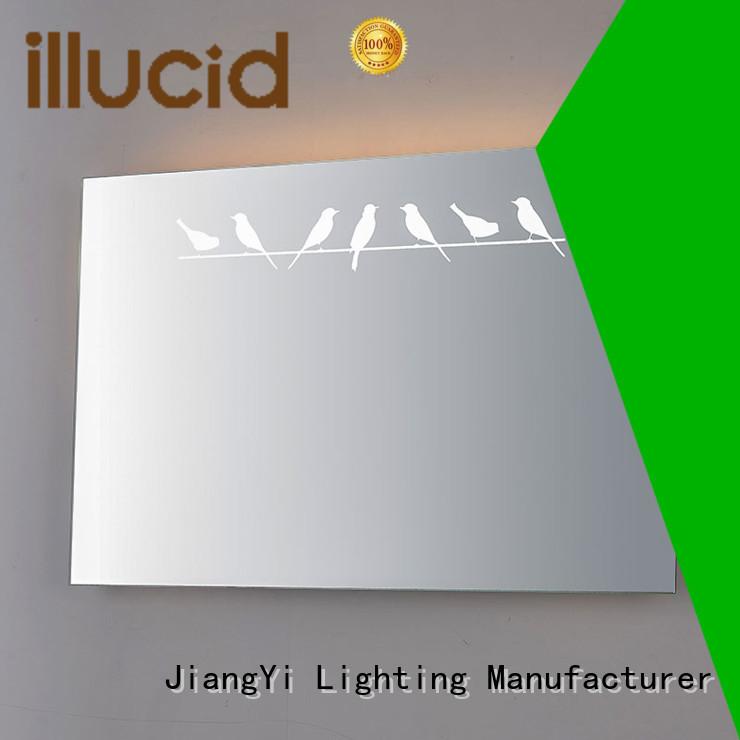 JiangYi light up circle mirror mirrors at home