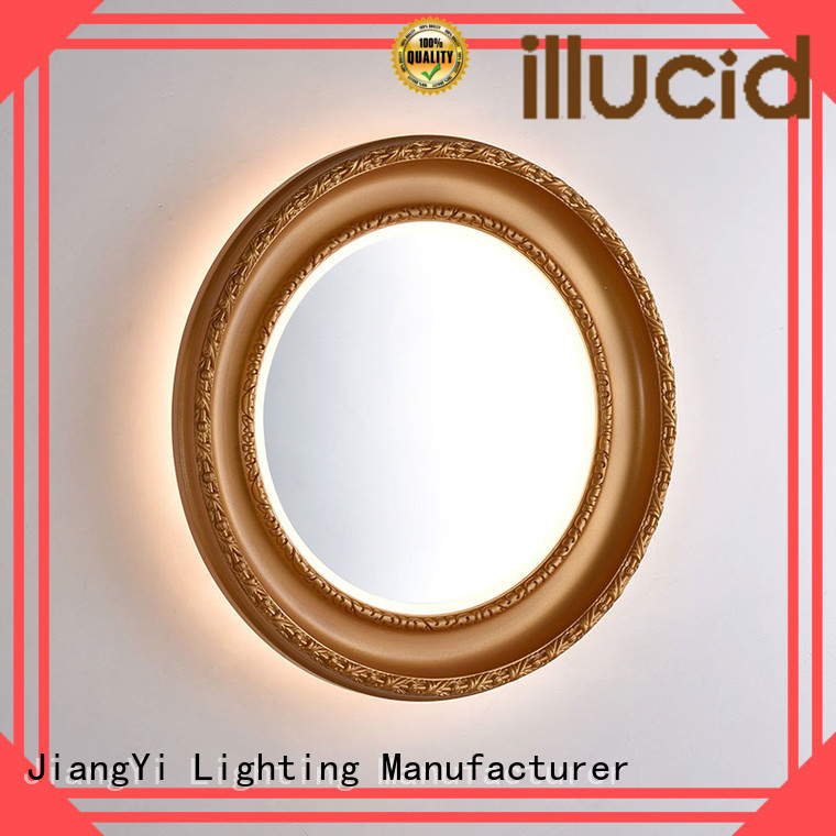 JiangYi oval led mirror at home