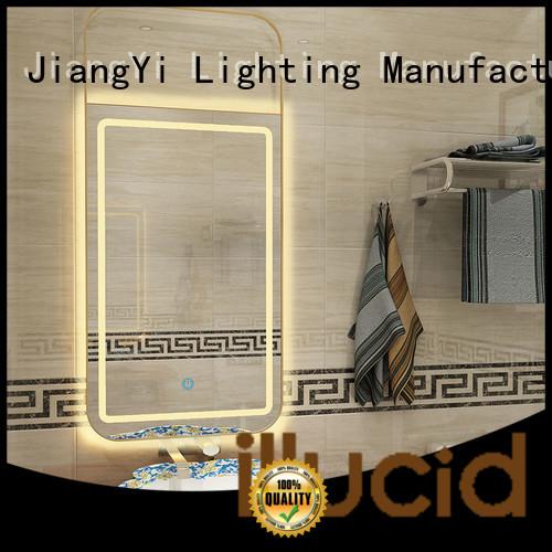 JiangYi rectangle led bathroom mirror make up