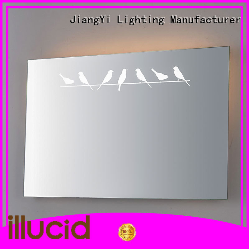 JiangYi rectangle led bathroom mirror mirrors make up