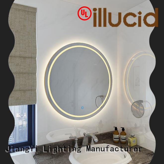 JiangYi modern round led bathroom mirror light bathroom