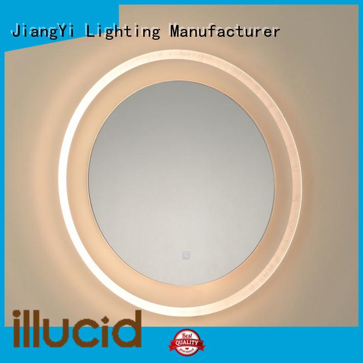 JiangYi electric round led bathroom mirror make up