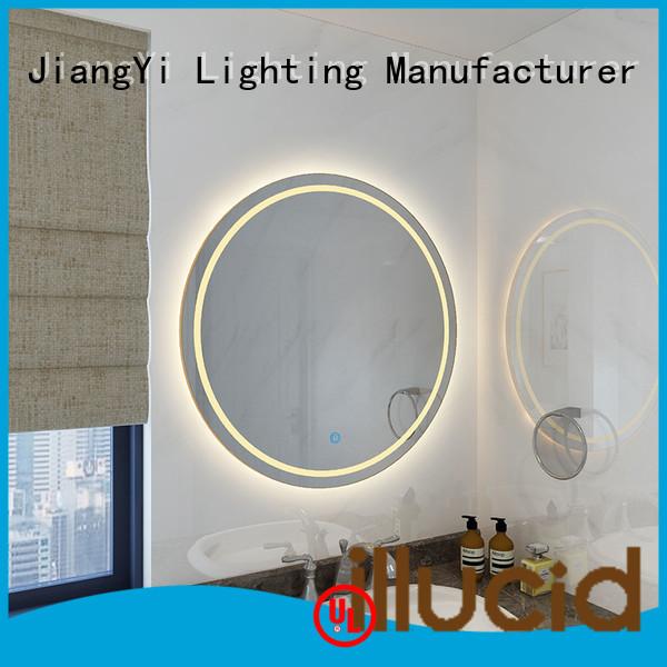 modern led circle mirror light at home