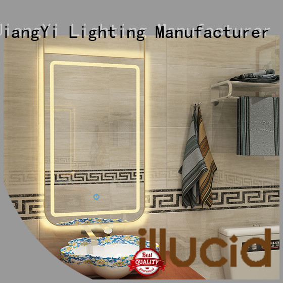 JiangYi electric rectangle led bathroom mirror light at home