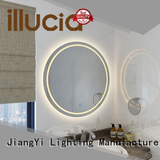 JiangYi modern round led mirror mirrors living room