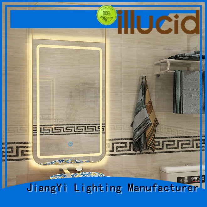 JiangYi modern rectangle led mirror at home