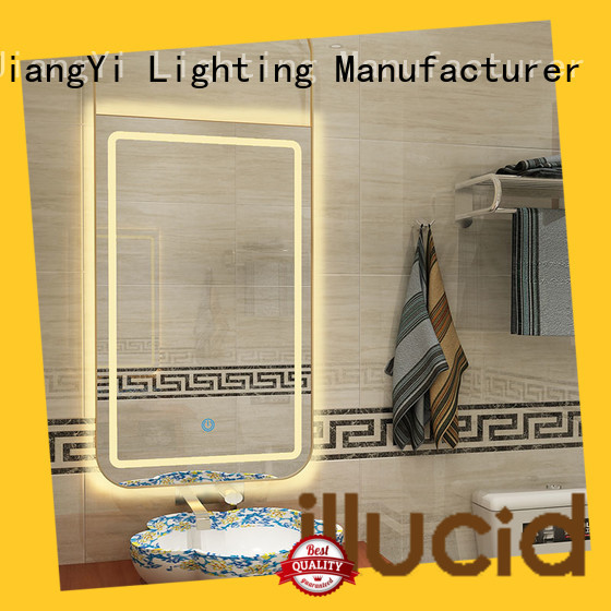 JiangYi rectangle led mirror mirrors bathroom