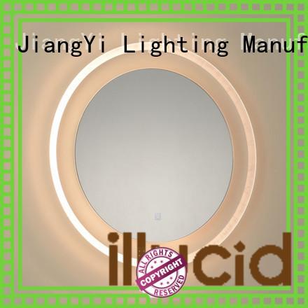 JiangYi led circle mirror mirror living room