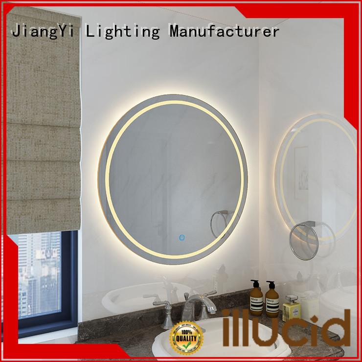 JiangYi round led mirror mirrors living room