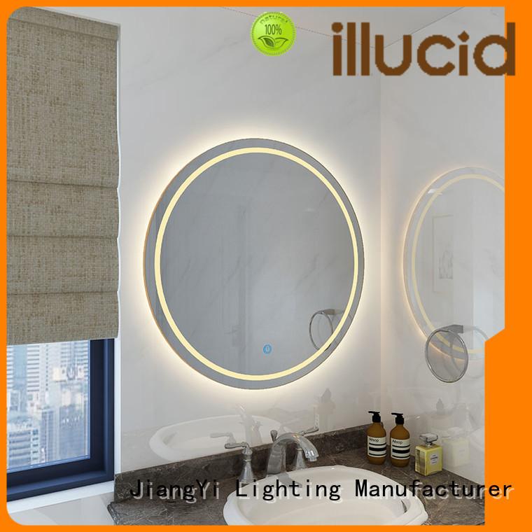 JiangYi best round led mirror lighting bathroom