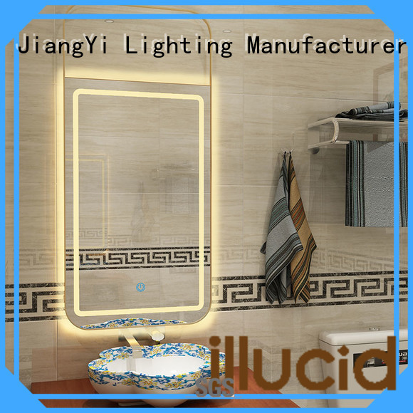 rectangle led mirror at home