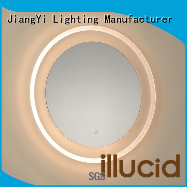 JiangYi modern led circle mirror living room