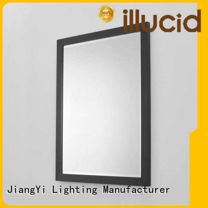 backlit round bathroom mirror