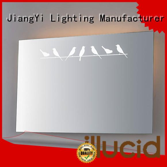JiangYi electric rectangle led bathroom mirror mirrors make up