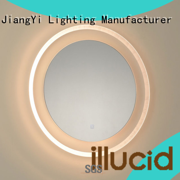 JiangYi led circle mirror lighting living room