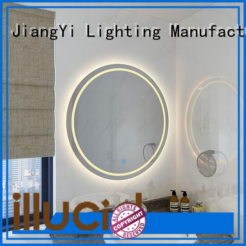 JiangYi round led bathroom mirror mirrors living room
