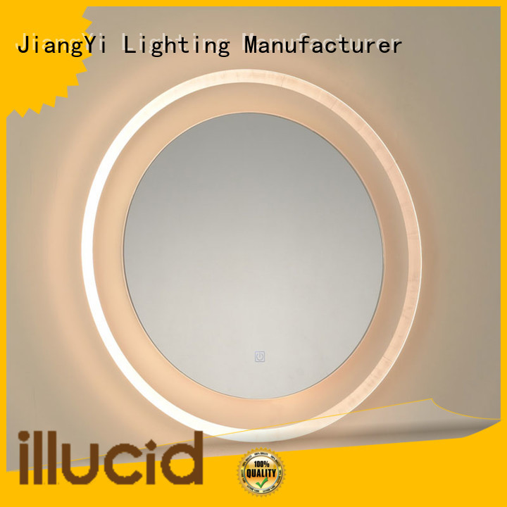 led circle mirror light at home