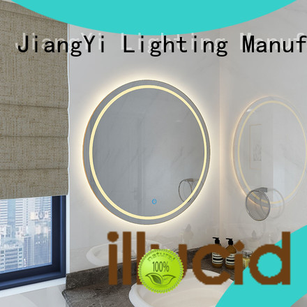 JiangYi led circle mirror light at home