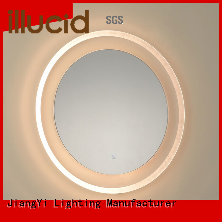 led lights around mirror at home