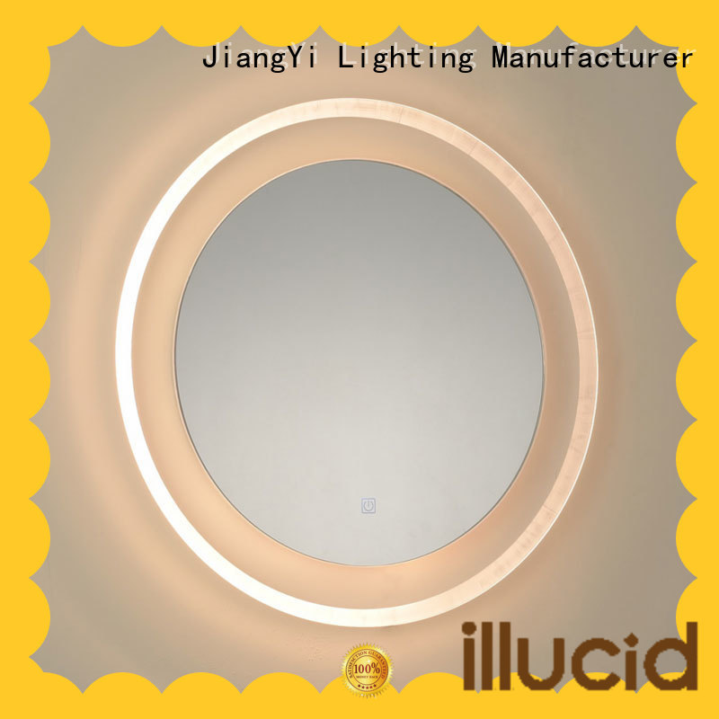 JiangYi led circle mirror lighting make up