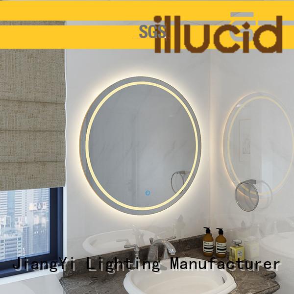 JiangYi modern round led mirror mirror at home
