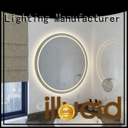 led circle mirror mirror living room