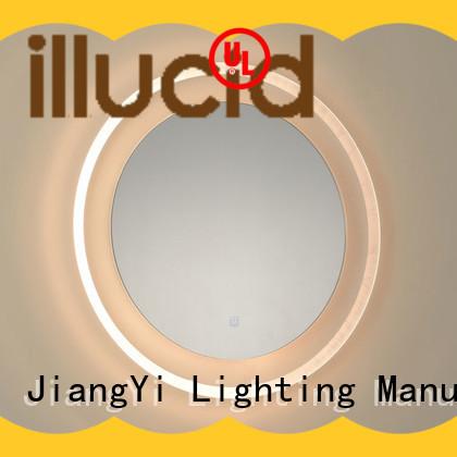 JiangYi modern round led mirror