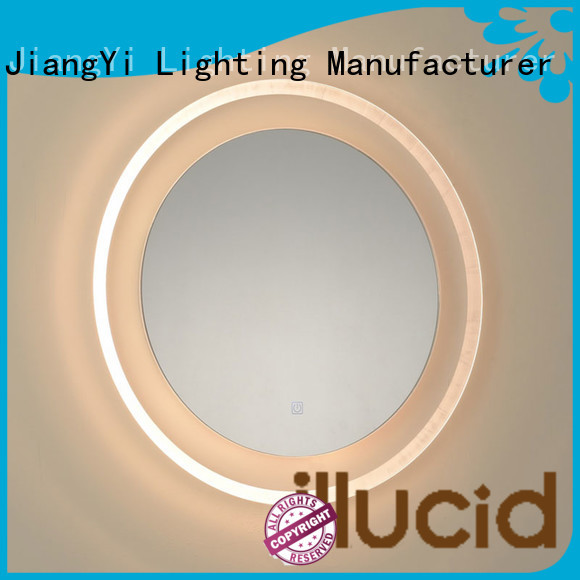 JiangYi led lights around mirror mirror bathroom