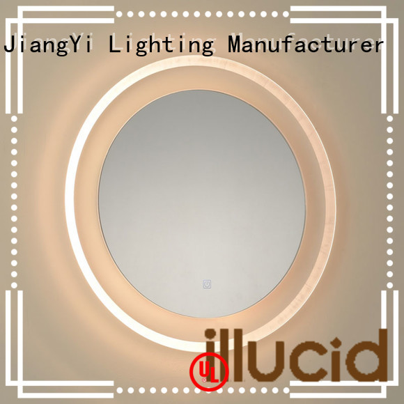 JiangYi Top illuminated bathroom mirror round factory bathroom