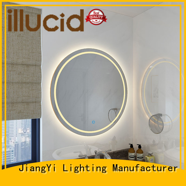 JiangYi round led mirror mirror make up