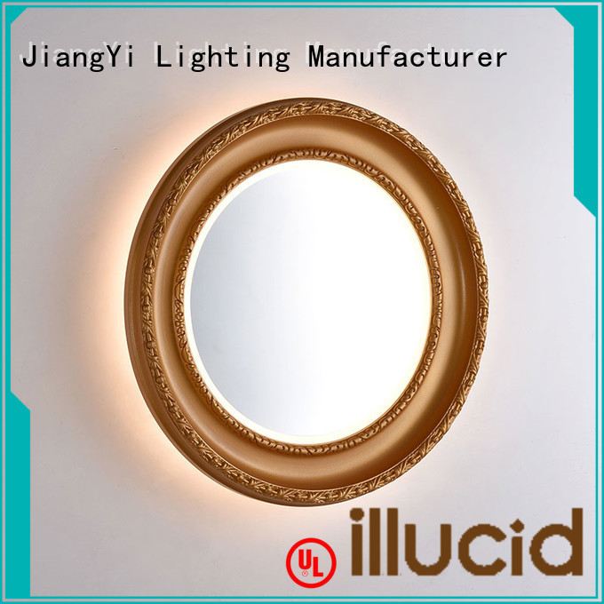 JiangYi electric oval led bathroom mirror mirrors make up