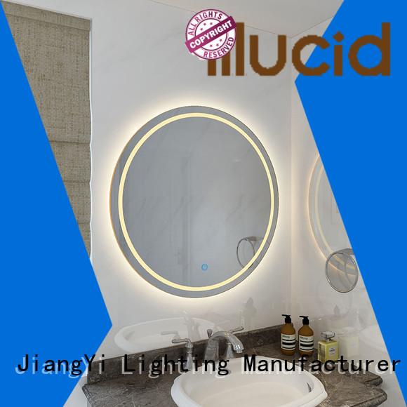 JiangYi best round led bathroom mirror light bathroom
