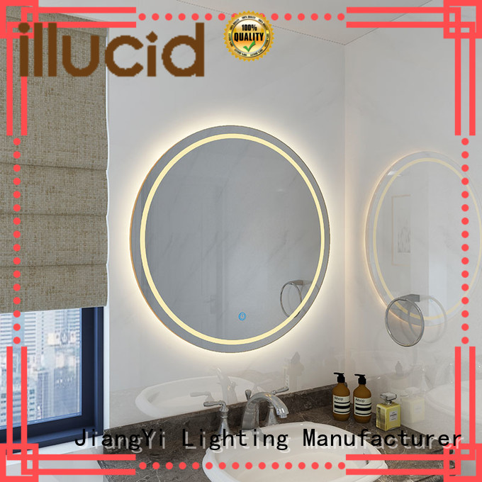 electric led illuminated bathroom mirror JiangYi