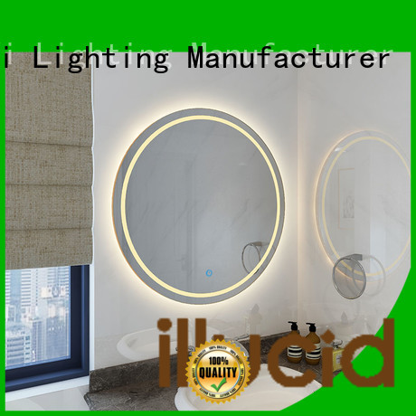 modern round led bathroom mirror light living room