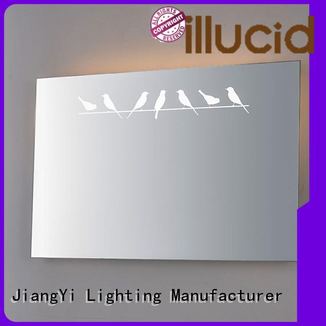 modern rectangle led mirror light living room