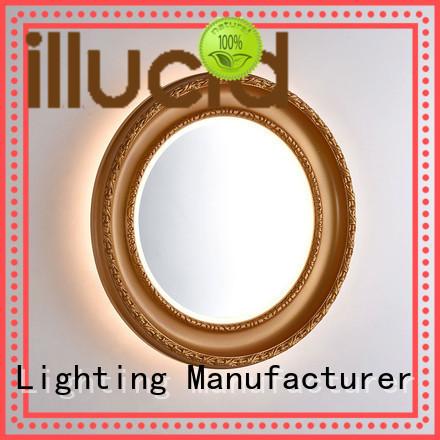 JiangYi led round illuminated mirror company living room