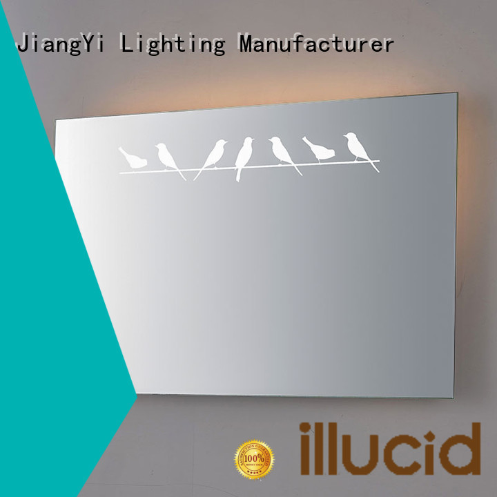 JiangYi rectangle led mirror lighting bathroom