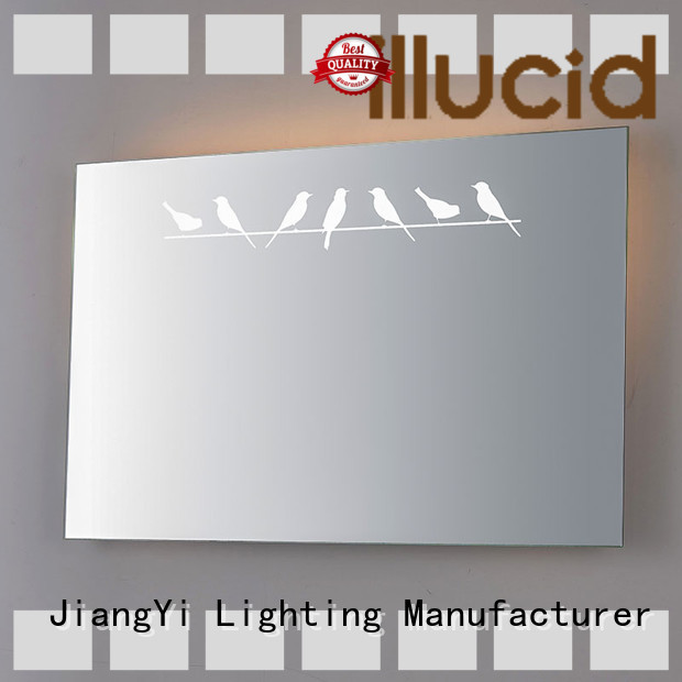 JiangYi rectangle led bathroom mirror mirror make up