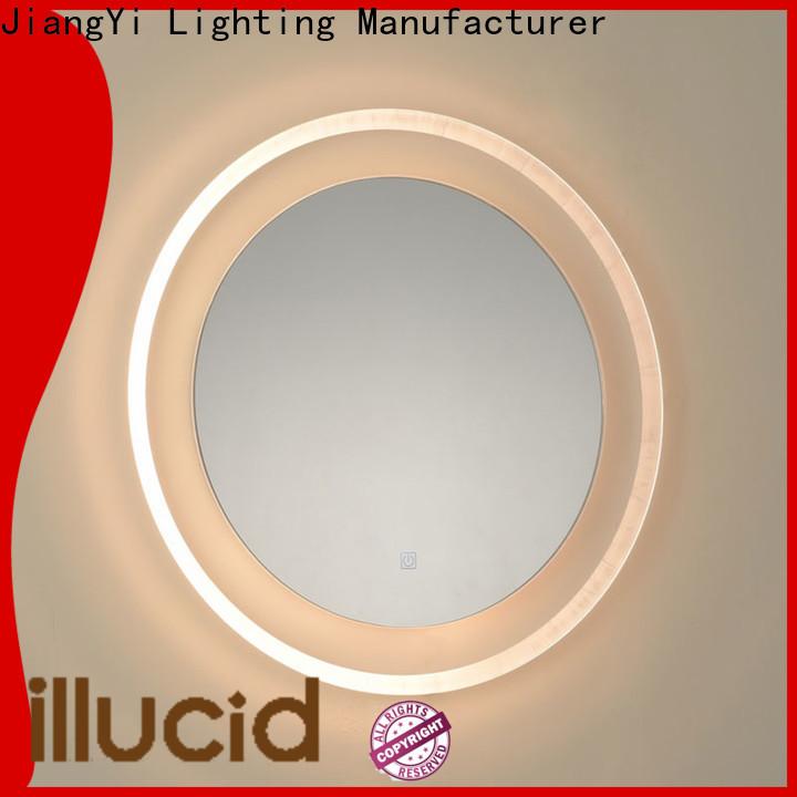 JiangYi Latest large illuminated bathroom mirror mirrors make up