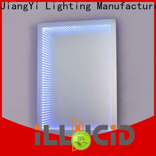 JiangYi led backlit bathroom mirror for business make up
