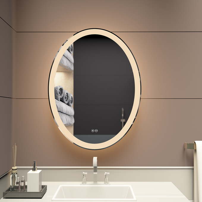 Custom 3022 VOXITA Oval Bathroom Wall Mirror With Lights