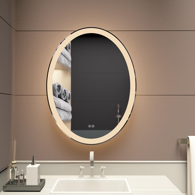 Custom 3022 VOXITA Oval Bathroom Wall Mirror With Lights
