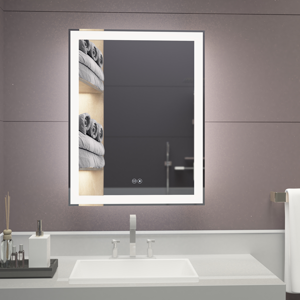 3019 VOXITA Lighted Bathroom Mirror Hanging LED Backlit Mirror