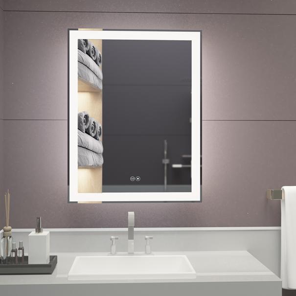 3019 VOXITA Lighted Bathroom Mirror Hanging LED Backlit Mirror