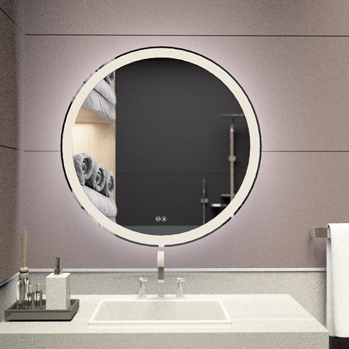 3021 VOXITA Vanity Round LED Light Mirror For Bathroom Wholesale